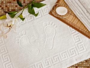 Махровый коврик для ног (белый), 500 гр